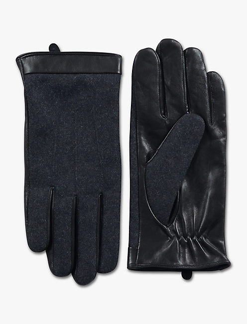 WOOL LEATHER GLOVES,