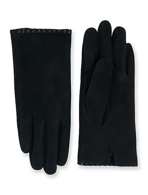 Whipstitch Suede Gloves