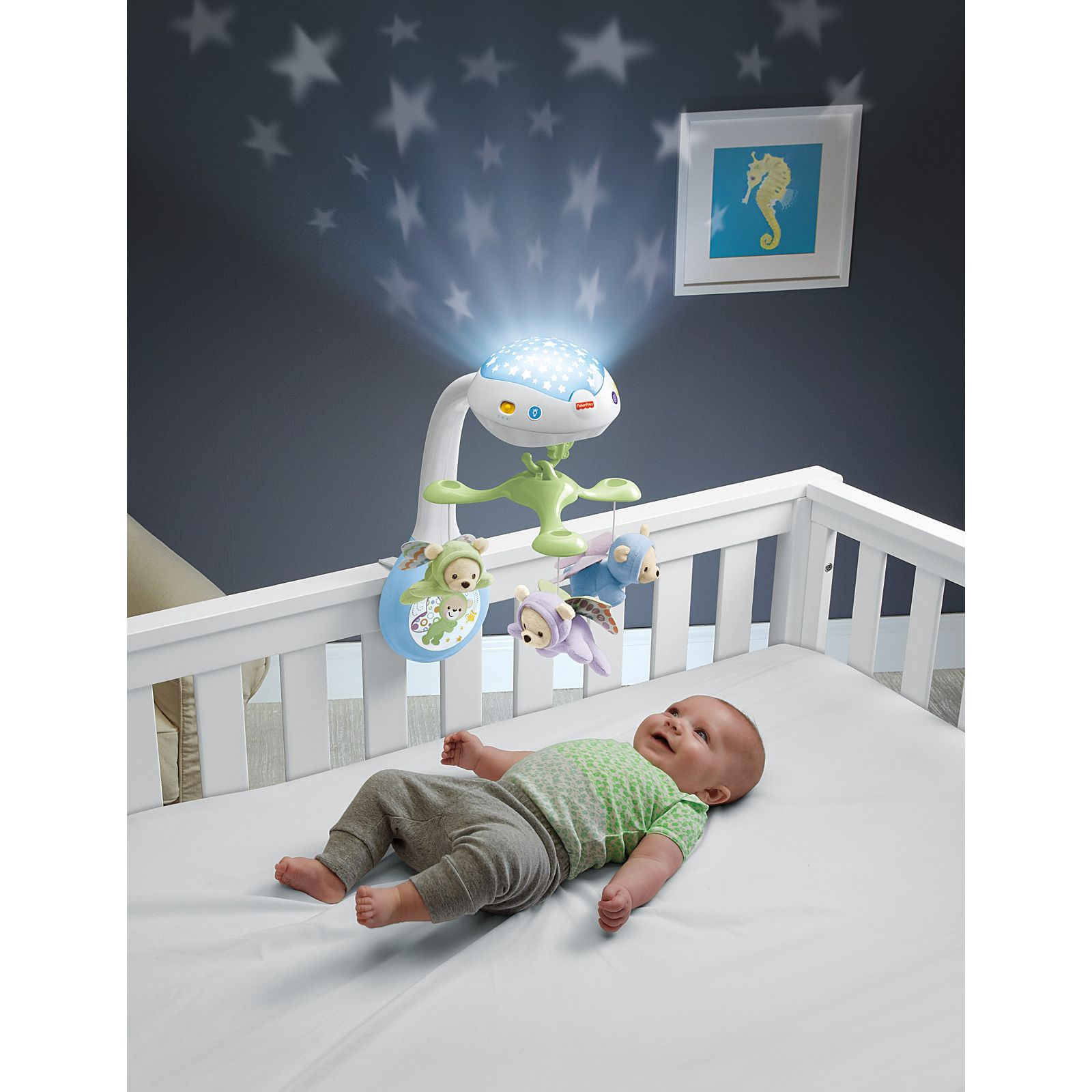 12m+ Fisher-Price Butterfly Dreams 3-in-1 Musical Projection Cot Mobile