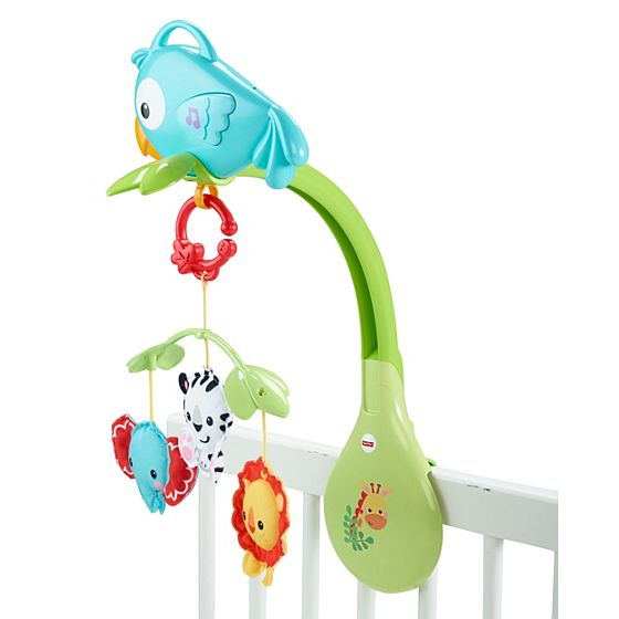 Rainforest Friends 3 In 1 Musical Mobile