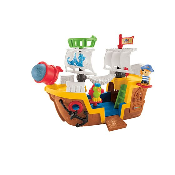 little people pirate ship shop little people toddler toys fisher price. Black Bedroom Furniture Sets. Home Design Ideas
