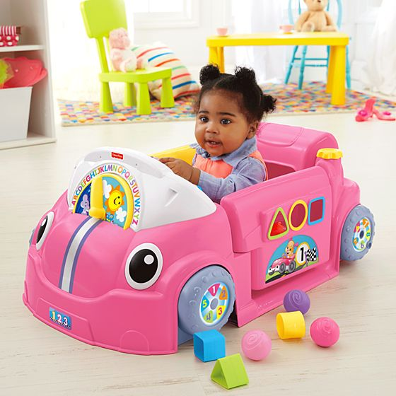 Educational Toys For 9 Month Old Babies : Laugh learn™ crawl around™ car pink