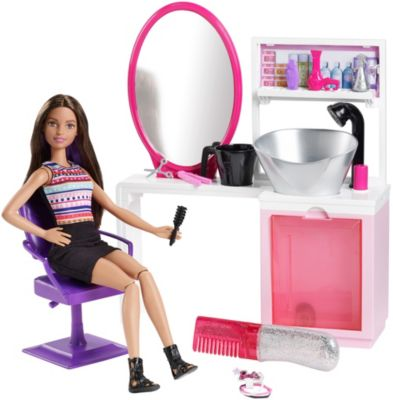 Barbie Beauty Salon And Doll Playset