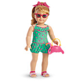 Maryellen's Flamingo Swim Outfit for 18-inch Dolls
