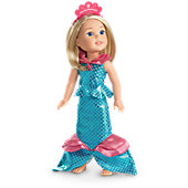 Marvelous Mermaid Outfit for WellieWishers Dolls