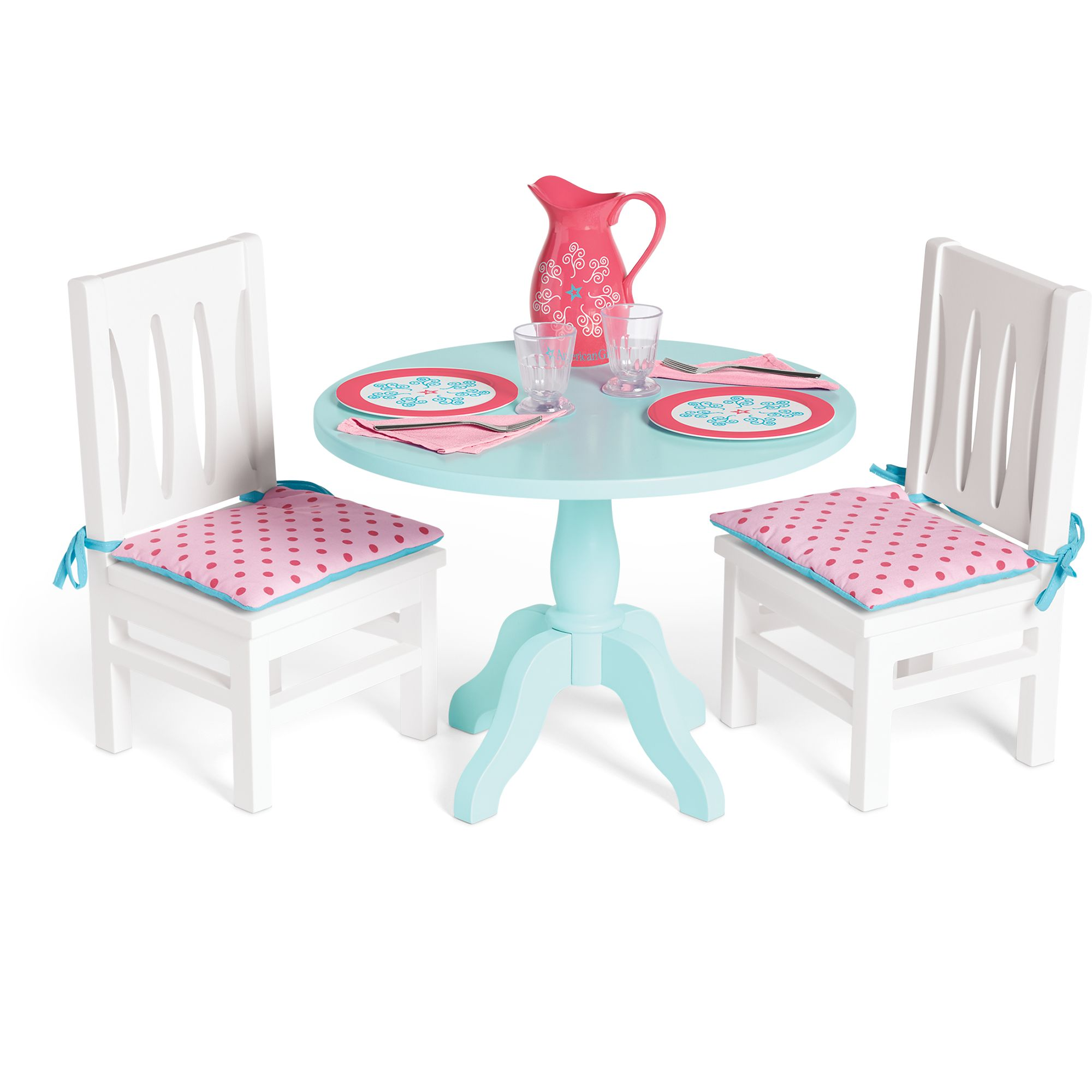 Table Chairs Set For Dolls American Girl