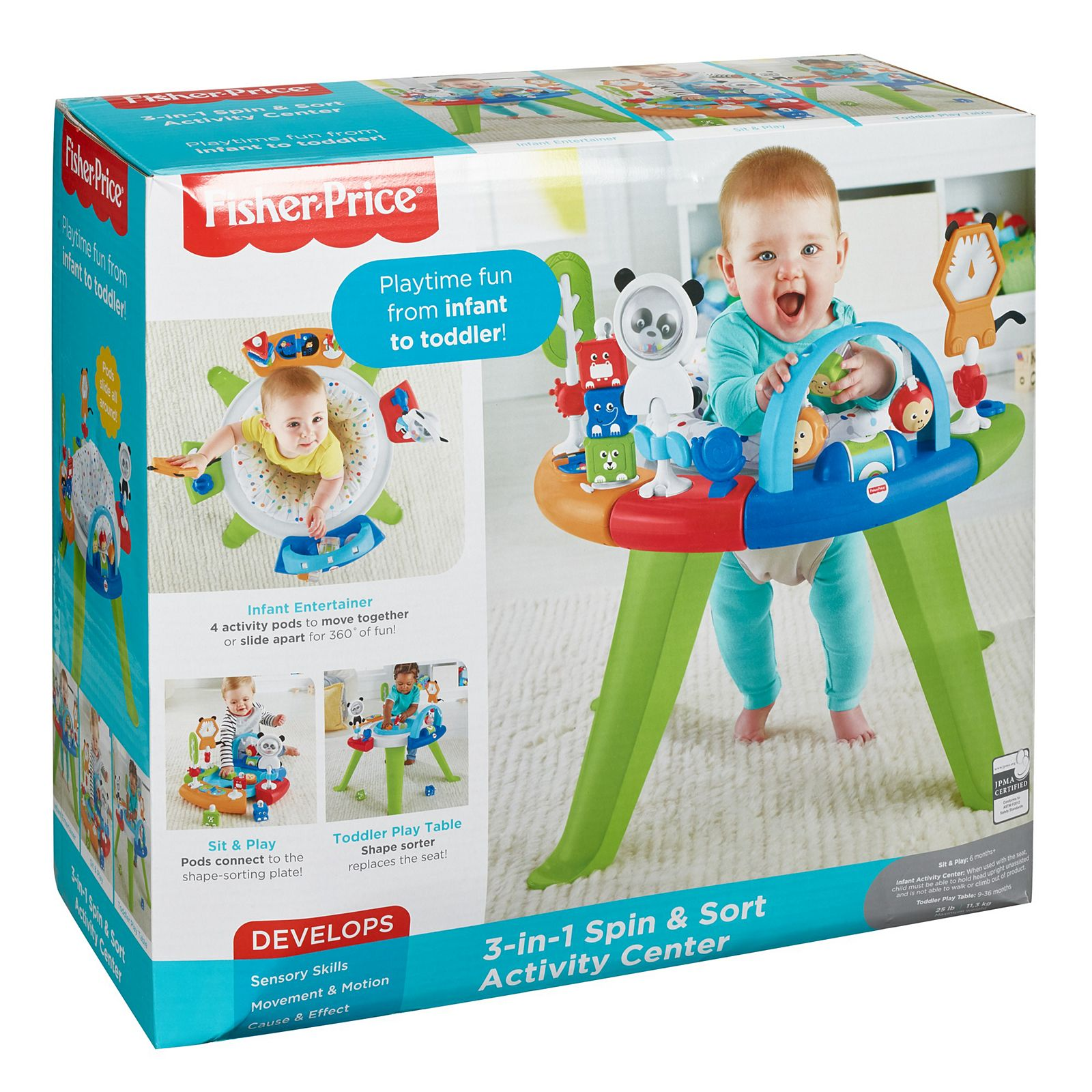 Fisher Price 3 In 1 Spin Sort Activity Center