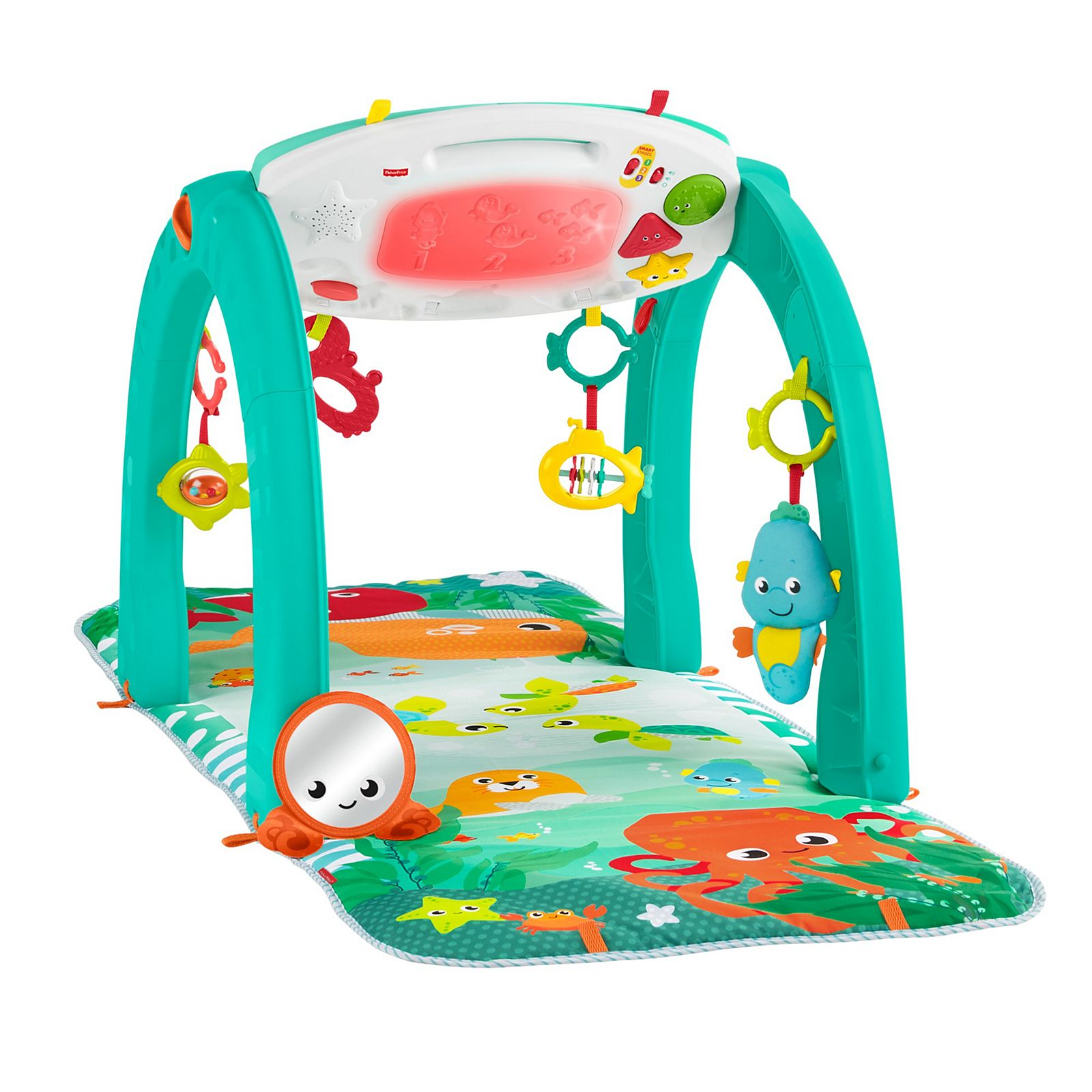 4-in-1Baby Gym Floor Play Mat Musical Activity Fisher Price Kick Play Piano Toy