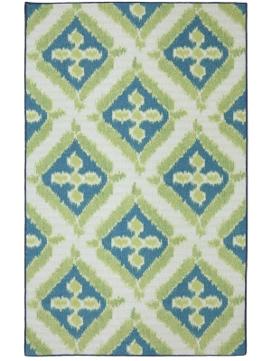 Mohawk Home Printed Indoor/ Outdoor Summer Splash Turquoise
