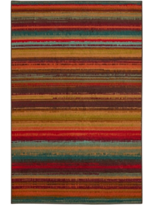 Mohawk Home Printed Indoor/ Outdoor Avenue Stripe Multi