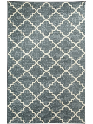 Mohawk Home Strata Fancy Trellis Gray