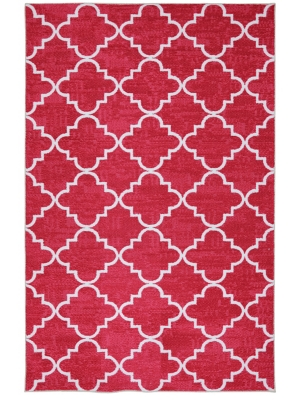 Mohawk Home Strata Fancy Trellis Hot Pink