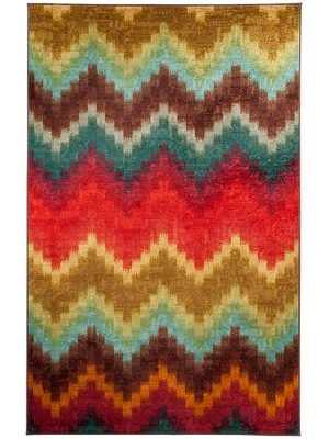 Mohawk Home Strata Painted Zig Zag Multi