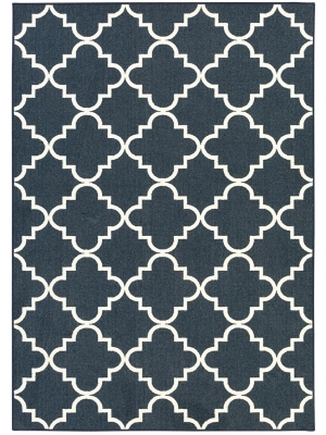 Mohawk Home Soho Fancy Trellis Navy