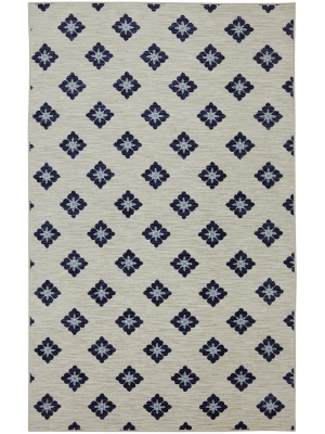 Mohawk Home Woodbridge Button Fleur Navy
