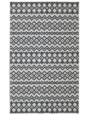 Mohawk Home Woodbridge Aztec Bands Denim