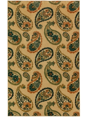 Mohawk Home Aurora Lovely Paisley Cool