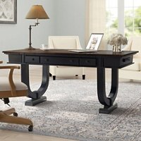 Art deco inspired desk with rounded base