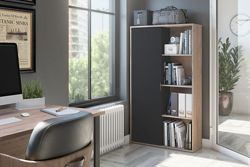 Bookcase with Sliding Door