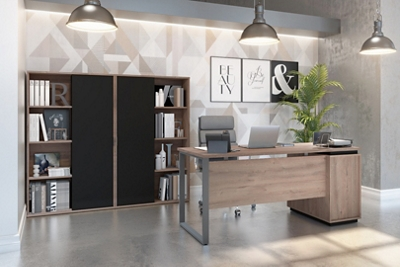 3-Piece Desk and Two Bookcase Set