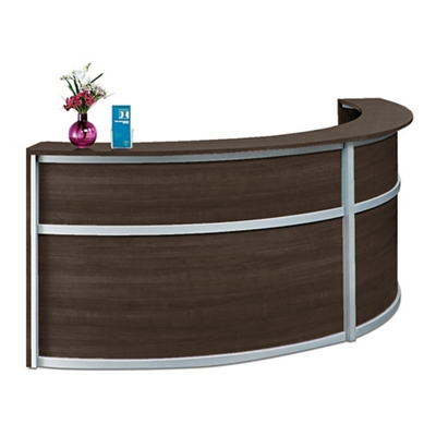 "Compass Double Reception Desk - 123""W x 48""D"