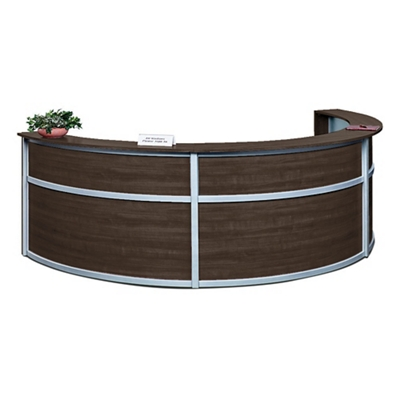 "Compass Triple Reception Desk - 142""W x 72""D"