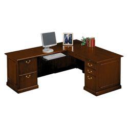 Traditional L-Desk with Left Return