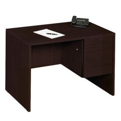 "45""W  Compact Single Pedestal Desk"