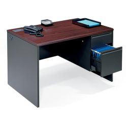 "Steel Single Pedestal Desk - 48"" x 30"""