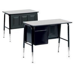 Single School Desk with Book Box