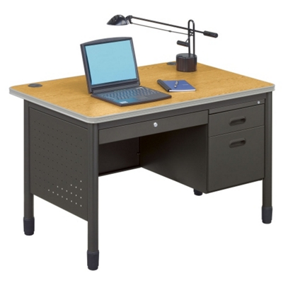 "47"" Single Pedestal Desk"