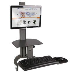 Adjustable Height Single Monitor Desktop Mount