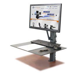Manual Adjustable Height Monitor Mount