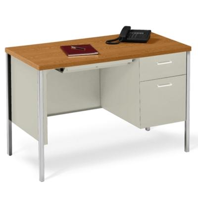 """45"""" x 24"""" Single Pedestal Steel Desk"""