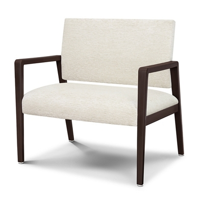 Vinyl Bariatric Guest Chair with Faux Wood Frame