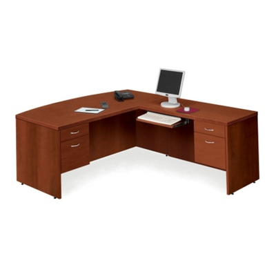 Bow Front L-Desk with Right Return