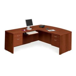 Bow Front L-Desk with Left Return