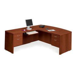 Bow Front L-Desk with Left Return