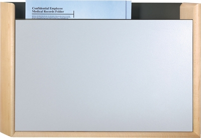 HIPAA-Compliant One Pocket Steel Front Chart Holder