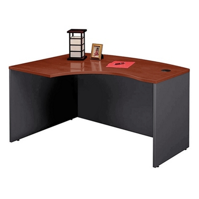 Bow Front Left L-Desk Shell