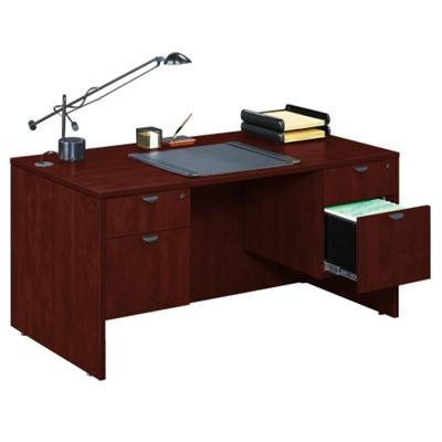 Compact Double Pedestal Desk