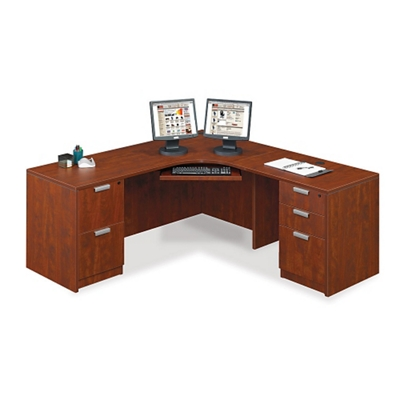 "Contemporary Corner L-Desk - 71"" x 71"""