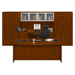 Fairbanks Executive Bowfront Desk with Storage Wall