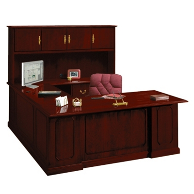 Barrington U-Desk with Right Bridge and Hutch