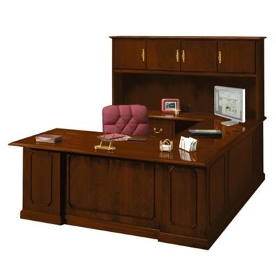 Barrington U-Desk with Left Bridge and Hutch