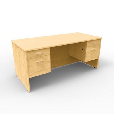 """Double Pedestal Computer Desk - 66""""W x 30""""D"""