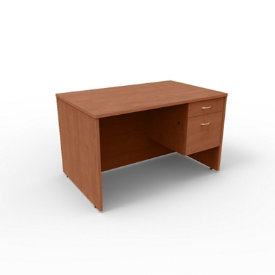 "Single Pedestal Compact Computer Desk - 48""W x 30""D"