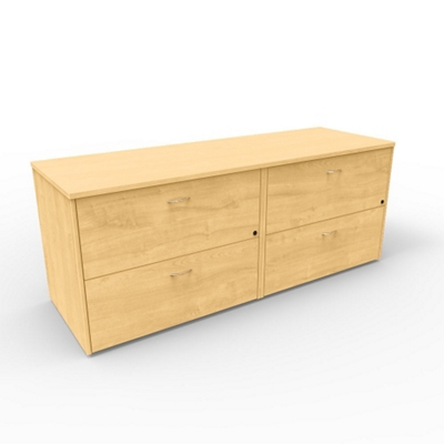 """Four Drawer Lateral File Credenza - 72""""W x 24""""D"""