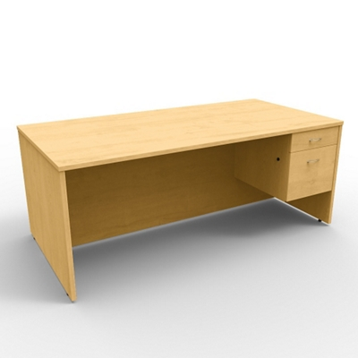 "Single Right Pedestal Executive Desk - 72""W x 36""D"