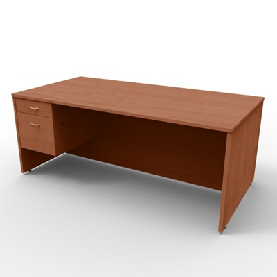 "Single Left Pedestal Executive Desk - 72""W x 36""D"